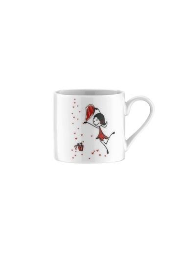 Kütahya Porselen Rüya 10158 Desen Kahve Fincan Takımı Renkli